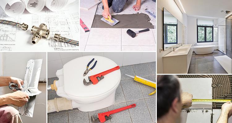 Stavební práce koupelna